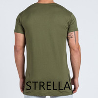 Active side zippers wholesale slim fit t shirt for men