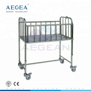 AG-CB005 stainless steel frame hospital infant crib new born baby bed