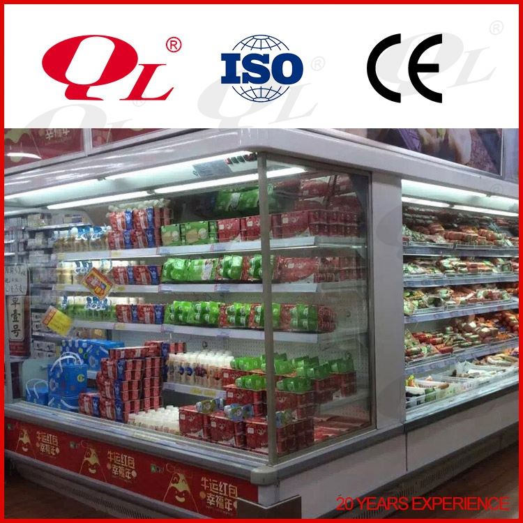Vertical supermarket freezer, Refrigerated display showcase super general refrigerators