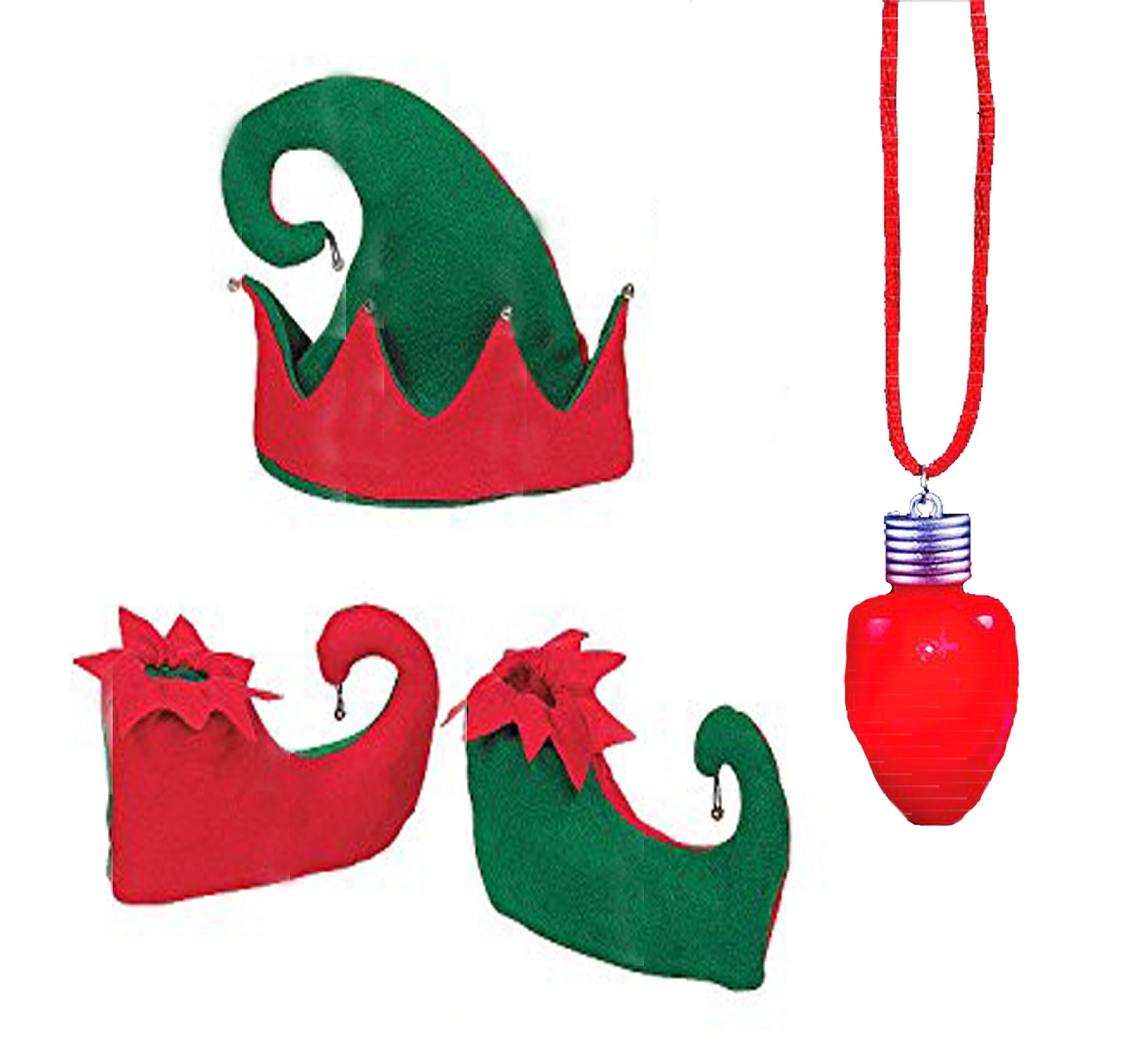 0a04c6c21cf2d Get Quotations · Neliblu Red And Green Jingle Bell Elf Costume Set