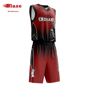 a7059fe4221 Latest new style basketball jersey uniform design red