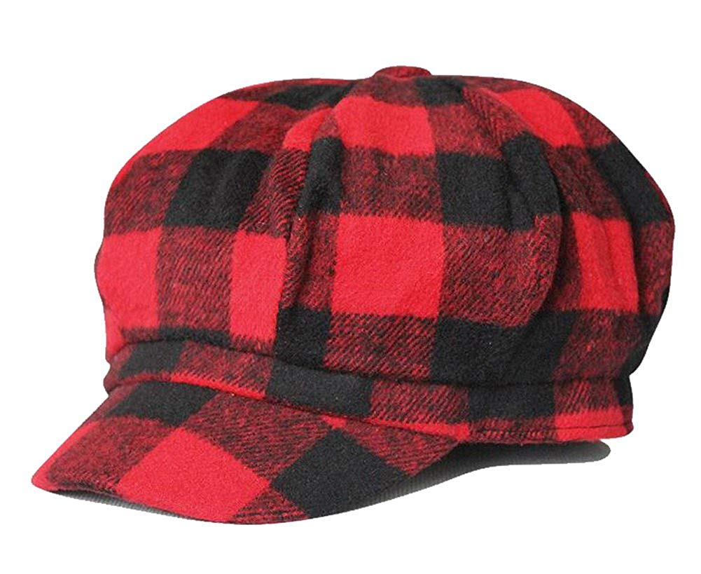 Get Quotations · Zegoo Wool Newsboy Hat Beret Cap Ivy Hats for Women and Men c6c3a9a90435