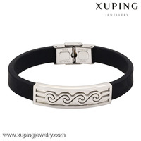 B0421010-simple fashion jewelry accessories personalized silicone bracelets bangles