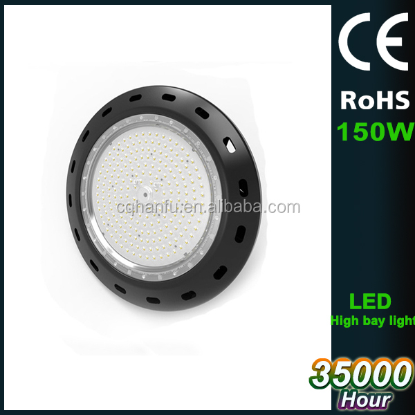 150W LED HIGH BAY LIGHT WAREHOUSE FACTORY COOL WHITE 6500K