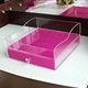 custom purple acrylic/plastic cosmetic organizer makeup drawers storage display box acrylic clear cabinet cases set