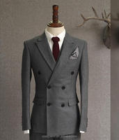 double breasted made to measure wool fabric customized men suit (SHM1044)