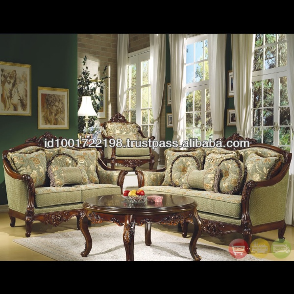 French Style Antique Living Room Sofa