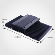 Large size extruded heatsink with anodizing and aluminum 6000 series