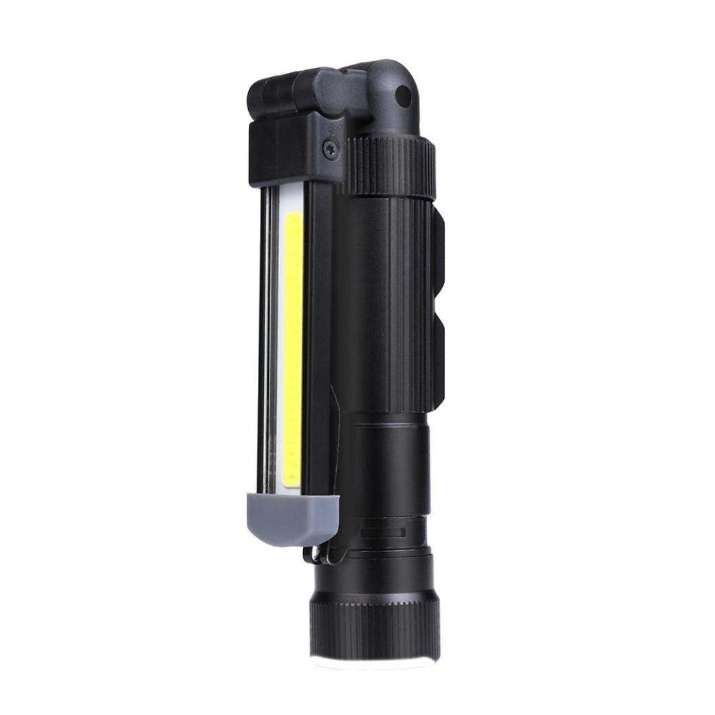 Sonmer COB Rechargeable LED Work Light,With Magnetic Folding Hook Hanging and 5 Brightness Modes