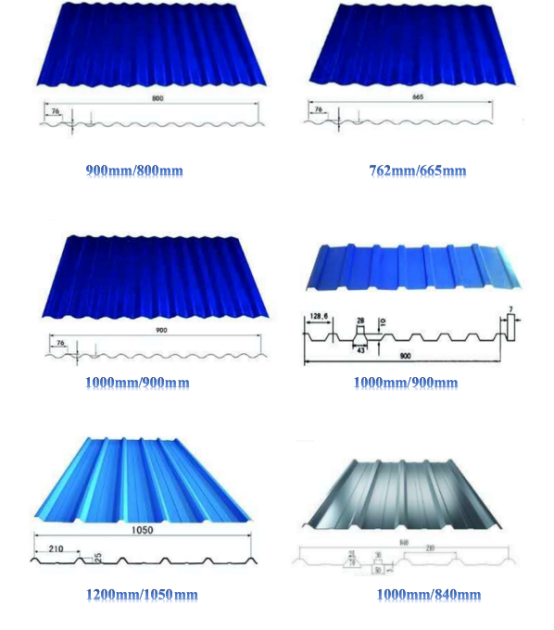 Prepainted Coated Color Steel Roofing Price List