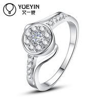 Elegant birthday party lady best finger silver promise ring for couples
