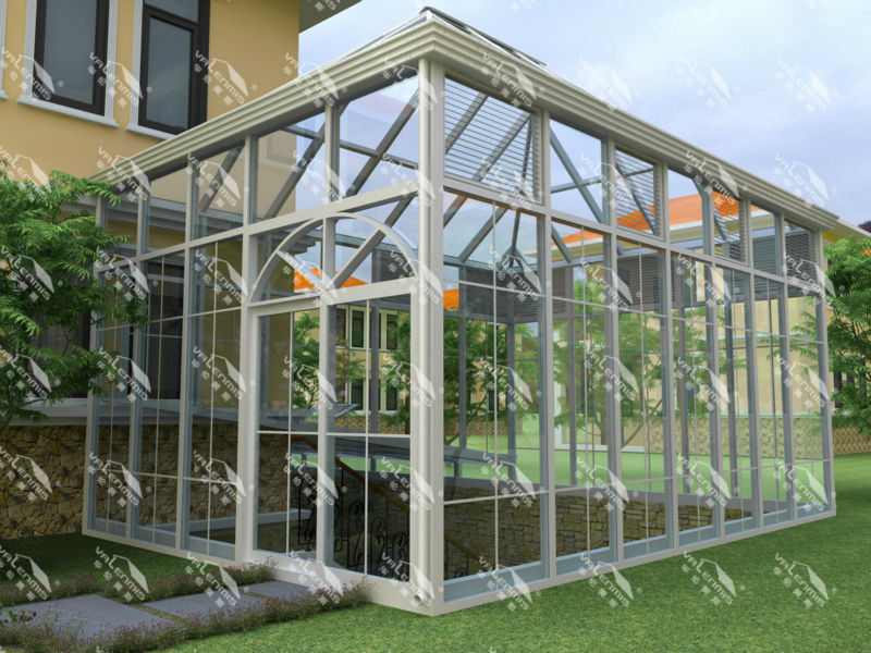Aluminium Glas Villa Wintergarten Balkon Glashaus Gewachshaus Made