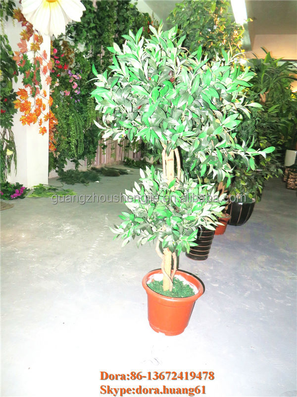 decorative artificial wooden tree olive tree for wedding