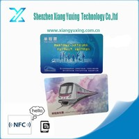 bank white or printable rfid pvc parking card with tk4100/em4100/ntag213/alien h3