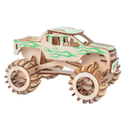 New-Land Funny Jigsaw 3D Puzzle DIY Wooden Toy Kit of Monster Truck