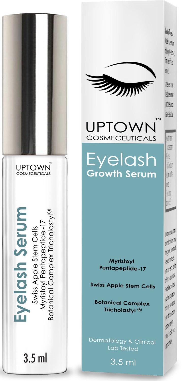 dd3f608b989 Get Quotations · Uptown Cosmeceuticals Eyelash Growth Serum Contains Stem  Cell & Myristoyl Pentapeptide-17, Dermatologist Lab