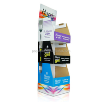 Cardboard POP POS floor display Advertising custom cardboard display stand for brush