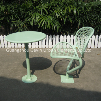Welded Wire Mesh Outdoor Chair And Table Set Metal Coffee Table Set