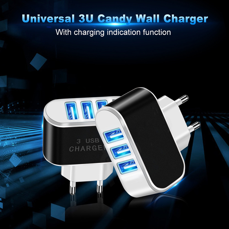 Multiple USB European plug power charger for cell phone