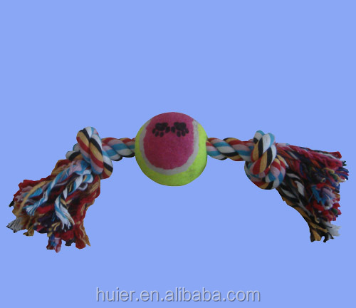 Dog playing rope toy, cotton pet toys 21CM Length Lots Color