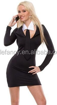 sexy secretary girl office outfit ladies office wear dresses dress costume qawc 2308