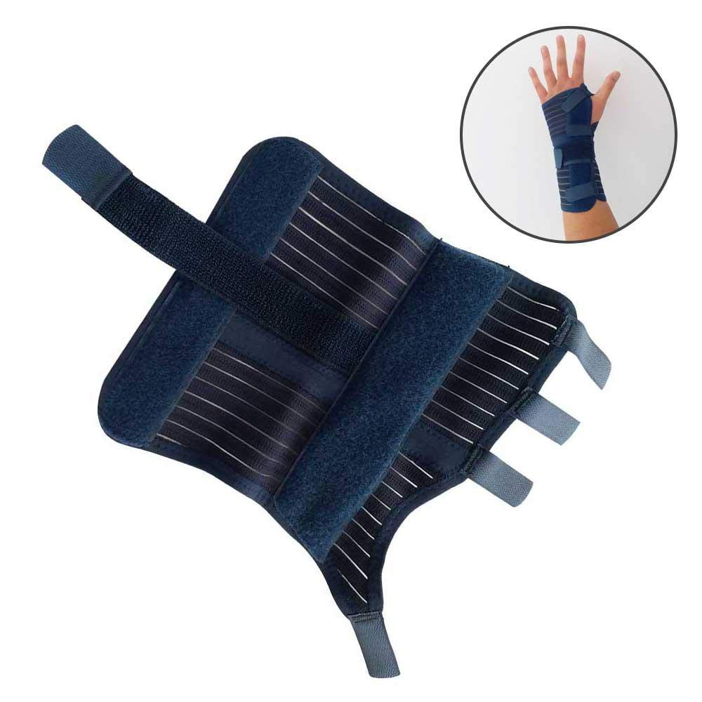 KOBWA Adjustable Wrist Brace, Wrist Splint for Right Hand - Carpal Tunnel Support, Breathable Wrist Stabilizer for Wrist Injuries, Sprains, Tendonitis, Arthritis, Sports, Men, Women. Size Small