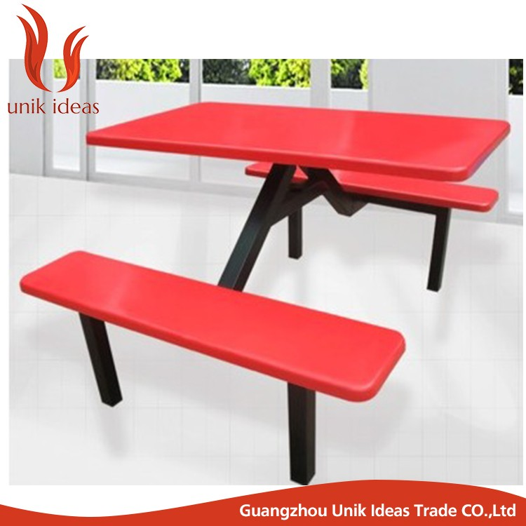 Fiberglass Top School Dining Tables And Chairs Mess Hall Table