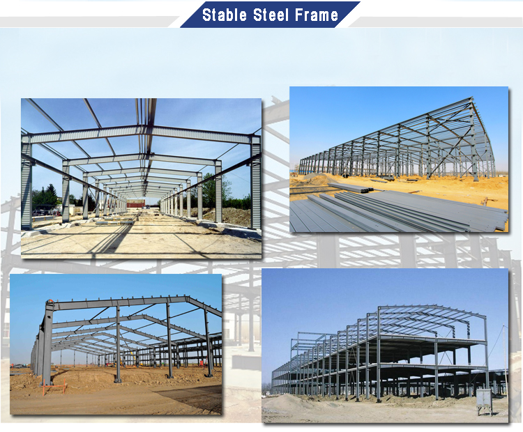 Low Cost Construction Design Metallic Structures For Warehouse Manufacturer