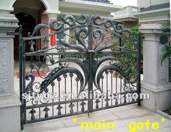2013 Newest Wrought Iron Gate Designs View Iron Gate