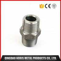 Hexgon neck threaded pipe fittings CNC machining turning milling parts with stainless steel