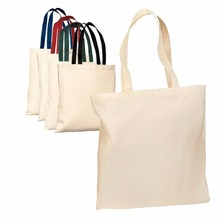 cheap price custom color handles standard size logo printed cotton tote bag for shopping