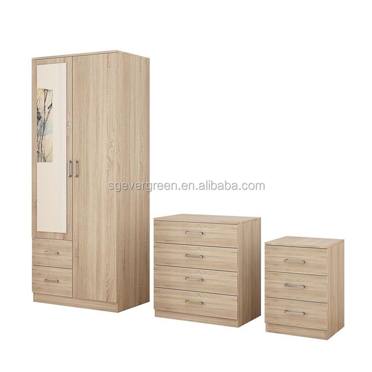 glossy flat pack fair price easy assembly custom bedroom modern wardrobe set furniture