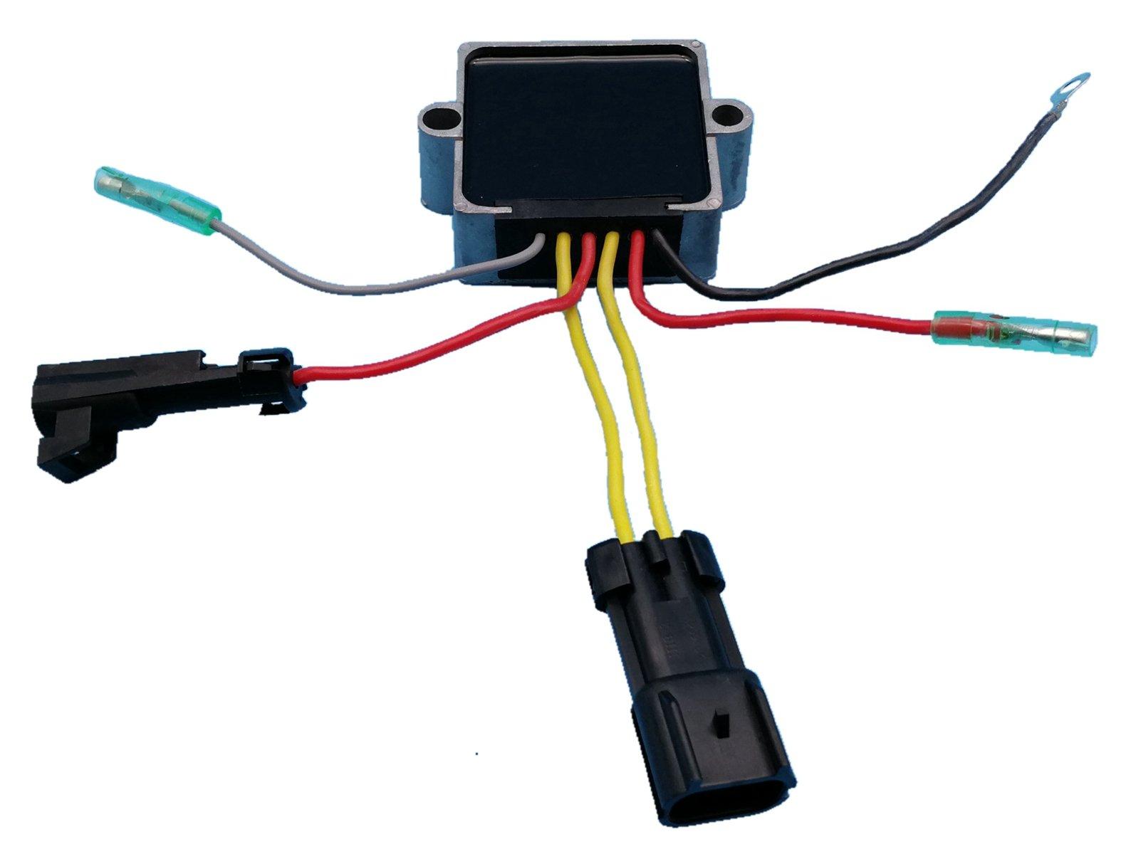 Generic Voltage Regulator Rectifier for Mercury 6 Wires 25hp 30hp 40hp 50hp 60hp 135hp 140jet 150hp 175hp 200hp 240hp Replace 194-3072K1 854515T2 883071T1 883072T1 883072T2 893640-002 New Z58