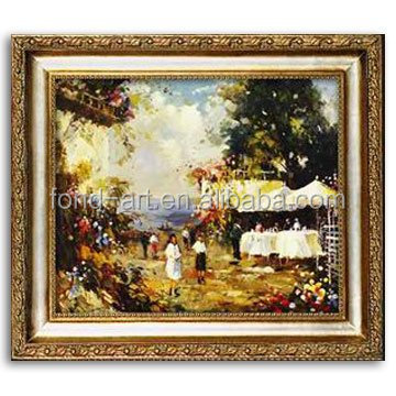 48108 Wholesale Antique Wooden Framed Oil Painting on Canvas