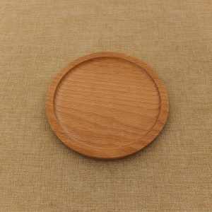Customized business logo 14cm diameter blank round wooden tea coasters