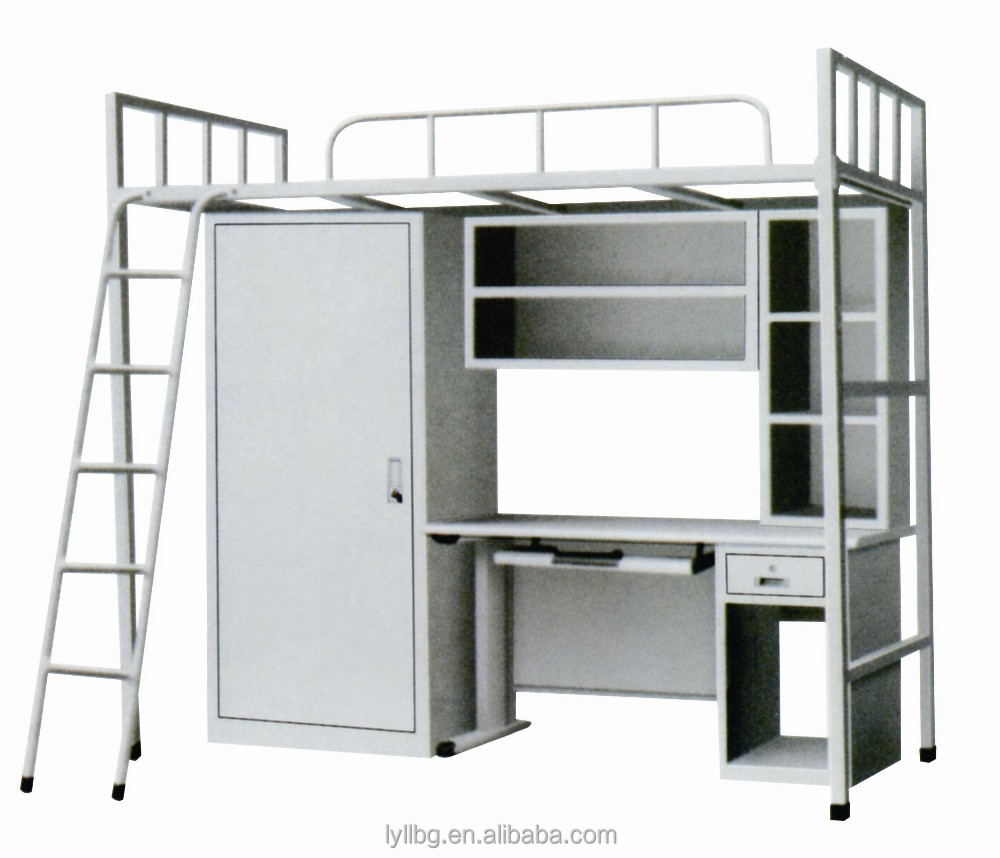 Modern Design Wholesale School Furniture Metal Single Bunk Bed for Adults