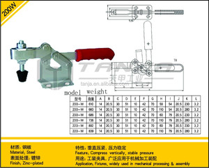 TANJA 200W machine operation welding mould toggle clamp
