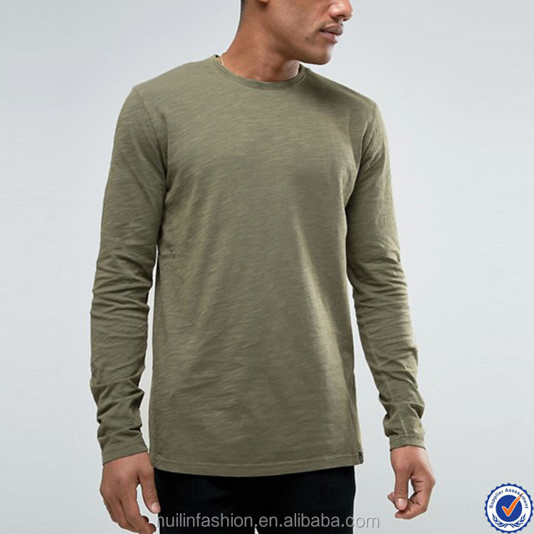 t shirts manufacturers china 100% breathable bamboo cotton solid long sleeve t shirt