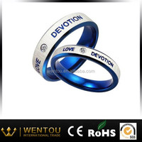 316L jewelery brand dubai titanium silver 316l stainless steel rings