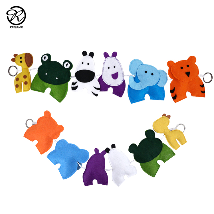 wholesale handmade woo felt <strong>animals</strong> for baby