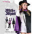 2016 Fashion Horrible Hooded Cloak Coat Wicca Robe Medieval Cape Shawl Halloween Christmas Witch Party Costumes