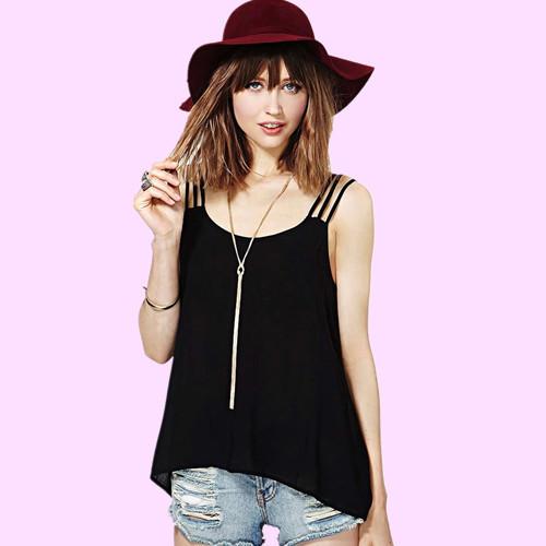 1ebdd63c3d59e Get Quotations · 2015 camisas blusa feminina girl casual fashion blouses  women chiffon blouse shirt sexy loose strap blouses