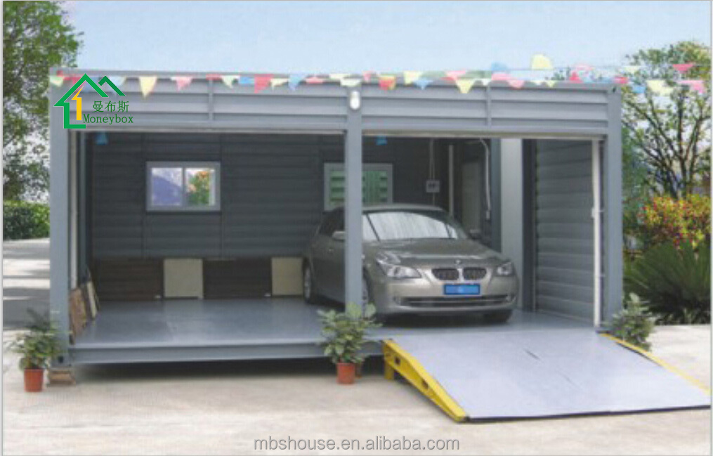 Instruction To Set Up A Portable Carport : Modified shipping container carport two car portable