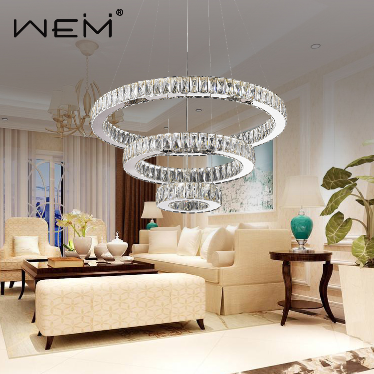 New Modern Hot Sale Clear LED Crystal Pendant Lamp Indoor Crystal Chandelier Lamp