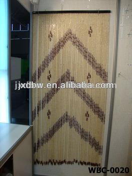 Hanging Door Beads Outdoor Beaded Door Curtains Wooden Beaded Curtains