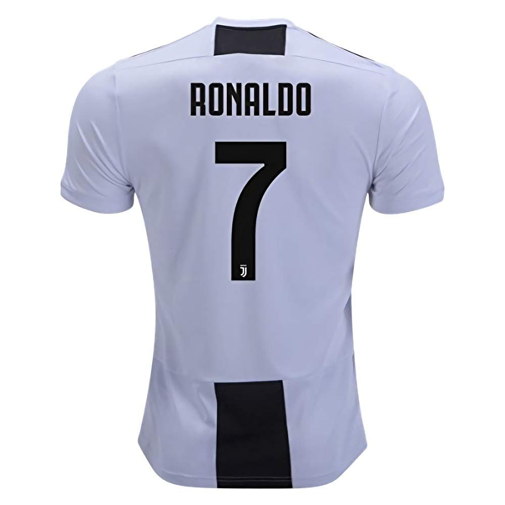 e01506002 Get Quotations · Marjorong New Juventus Stadium 2018 2019 7 Ronaldo Home Jersey  Mens White