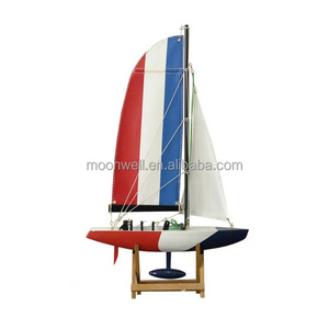 America's Cup French racing yacht Sailing Boat, Wooden Sail Boat Model, Clipper Model Nautical Gift home Decoration,promotion