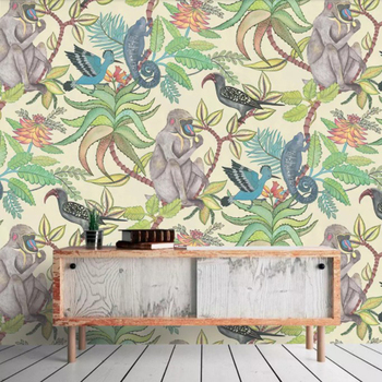 Nordic Style Wallpaper Monkey In The Forest Wallpaper 3d Wall Mural For Kids Room Buy Wall Mural For Kids Room 3d Wall Murals Wallpaper Wall Mural