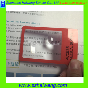 Free sample Custom Logo 86*53mm PVC Credit Card Size Magnifier 3X 6X