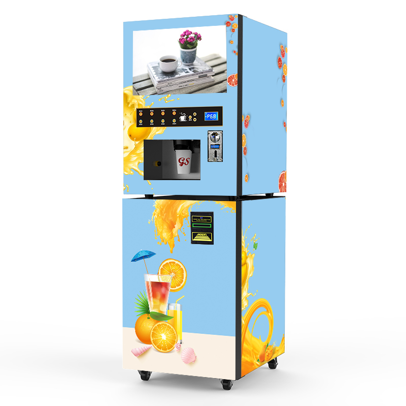 Coin And Note Payment Orange Juice Vending Machine With ...